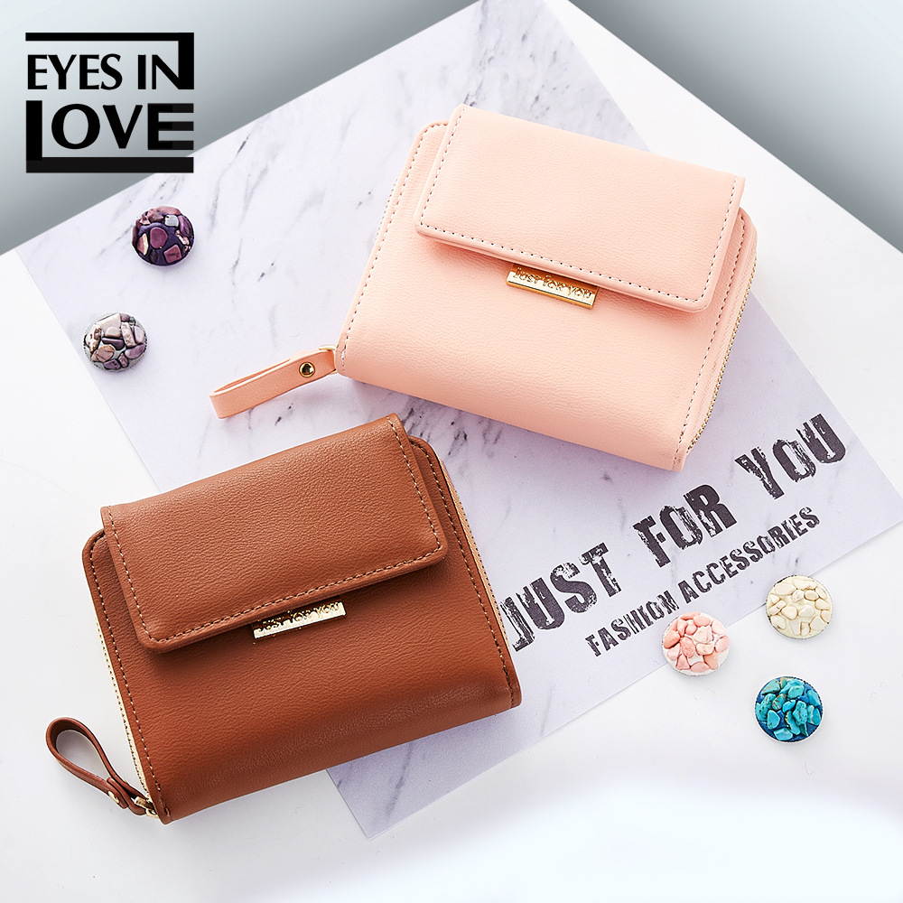 New style 2018 women's wallet mini pocket bags for women 2018 fashion multi card buckle purse