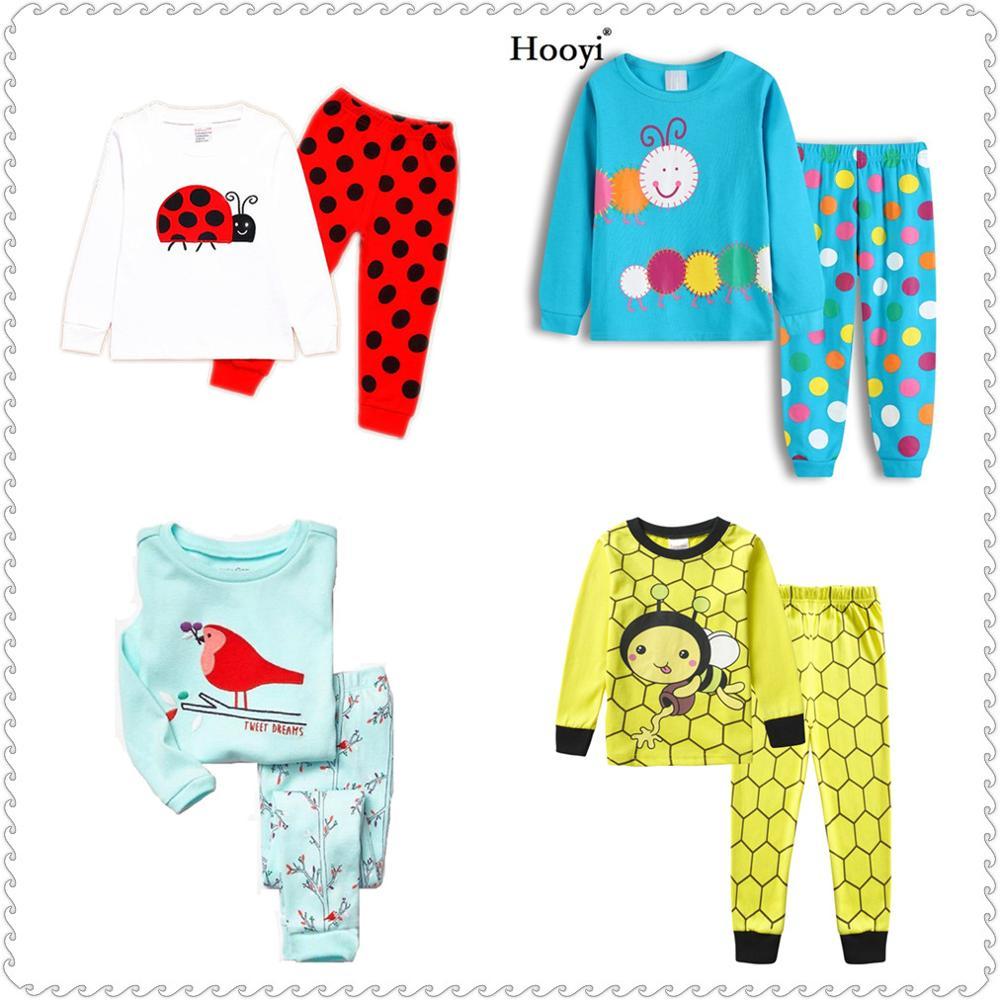 Ladybug Girl Clothes Suits Embroidery Cotton Baby Girls Pajamas Print Children Sleepwear Cartoon Pyjamas T-Shirt + Pant 2PCS Set 2
