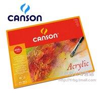 Canson プロ絵の本 400 グラム 32 × 41 センチメートルアクリル画紙四辺シール