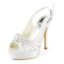 Neue ankunft plattform hochzeit heels schuhe satin partei knoechelriemchen kristall sandalen hoher absatz pumpt stilettos schuhe RR-060 YY