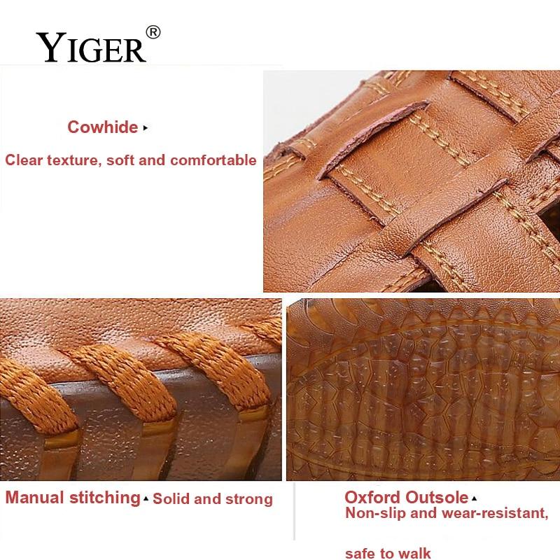 YIGER NEW Men's Genuine Leather Sandale Casual tenisice za plažu - Muške cipele - Foto 2