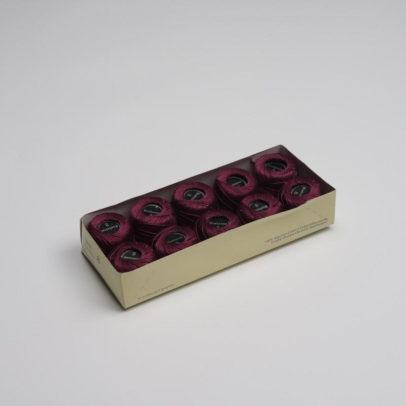 Размер 8 жемчужная хлопковая нить для вышивки крестиком 43 ярдов(5 грамм) на шарик Двойной Мерсеризованный длинный штапельный хлопок 10 шариков в цвет - Цвет: 701