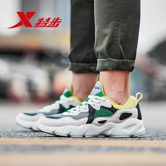 882419329558 XTEP Ретро Клин старый папа обуви аппликации для мужчин спортивные мужчин амортизацию спортивные спортивная обувь