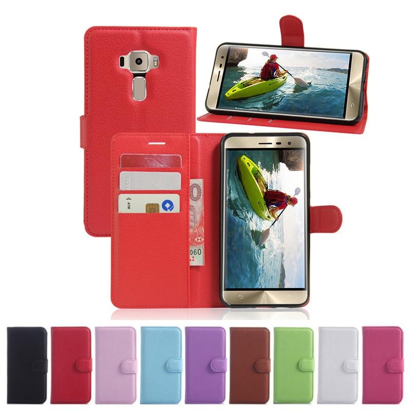 194e3bd16d3 ZenFone 3 ZE520KL Wallet Flip Leather Case With Card Slots Stand Holder  Cover For Asus ZenFone 3 ZE520KL 5.2 Mobile Phone Bag