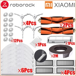 XIAOMI Mi Robot Vacuum Cleaner Part Kit roborock S50 S51 Side Brush HEPA Filter Main Brush Cleaning Tool Mop Cloths Virtual wall