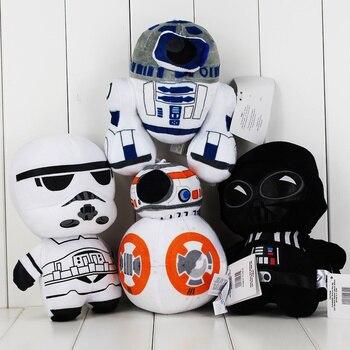 4 stili Star Wars Forza Risveglia BB8 R2D2 Robot Darth Vader Peluche Giocattolo Bambole Pendente