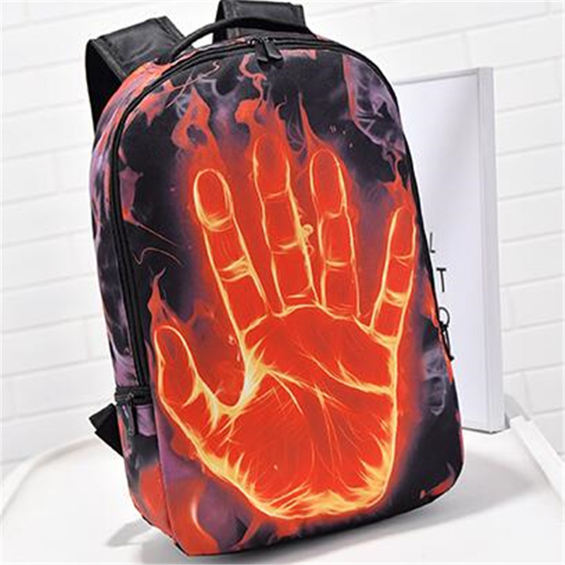 2016 shoulder bag new backpack spray chart aliens college style emoji backpack pokemon bag motorcycle backpack