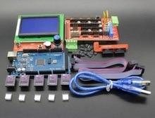 Drukarka 3D zestaw 1 sztuk Mega 2560 R3 + 1 sztuk RAMPS 1.4 kontroler + 5 sztuk DRV8825 Krokowy Napęd + 1 sztuk LCD 12864 controller