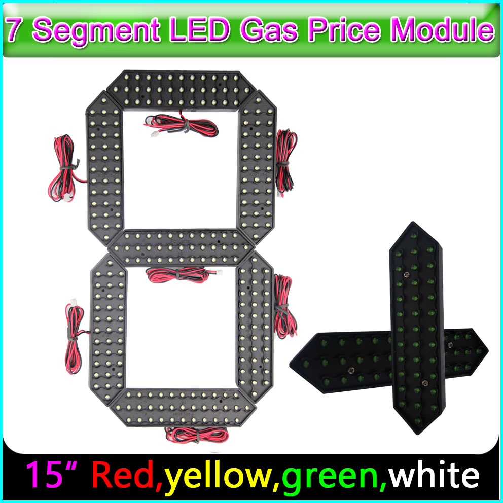 "15"" Digita Numbers 7 Segme Module Red, Yellow, Green , White Color, LED Signs Advertising Board LED Temperature And Time Display"