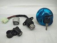 Metal Motorcycle Lock Set Ignition Key Switch Fuel Gas Cap Helmet Lock Keys Motorcycle Ignition Key Switch Lock Craft Assembly