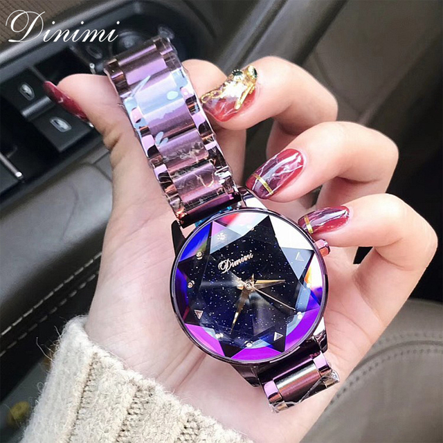 Dimini Fashion Luxury Women Watches Lady Watch Gold Quartz Wrist Watch Stainless
