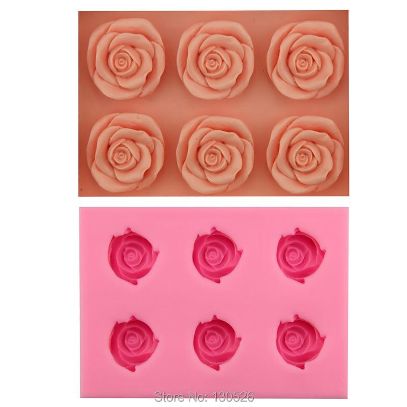 1Pcs 3D Rose Flower Silicone Mold Gum Paste Fondant Cake Decorating Tools Sugarcraft Bakeware pastry Kitchen accessories