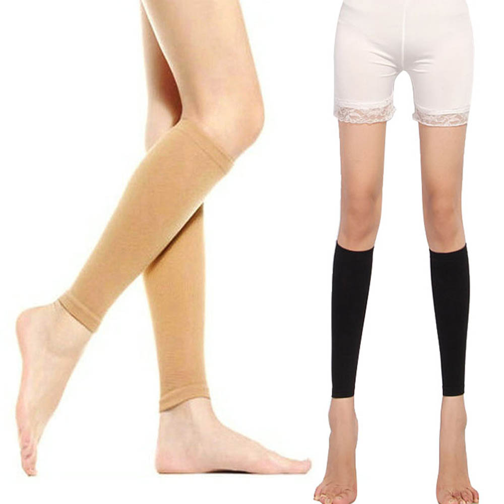 SDY-SDY 1 Pair Elastic Calf Compression Shaper Sleeves Shank Leg Shaping Socks Band Wrap Drill