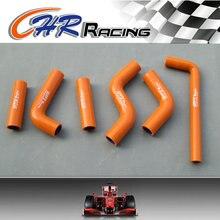 Для KTM 400 EXC/450 EXC/525 EXC 2002 2003 2004 2005 2006 силиконовый шланг радиатора оранжевый
