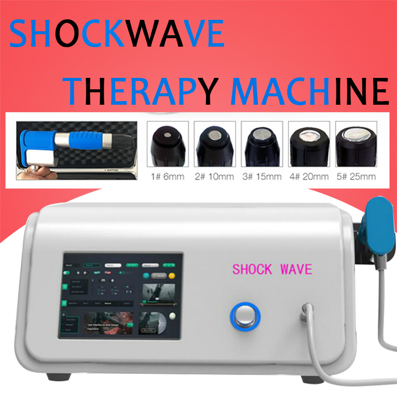 Compressor 8 Bar Radial Type ESWT Device Extracorporea Shock Wave Therapy Machine For Treatment CE
