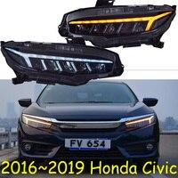 Видео Автомобиль Стайлинг для Civic 2016 2017 2019 2018 фары автомобиля для civic DRL Объектив новый Civic светодио дный фары с динамическим поворотов