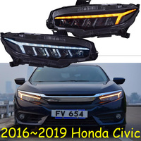 Video Car Styling For Civic 2016 2017 2018 2019 Headlights for civic DRL lens New Civic LED headlights with dynamic turn signal