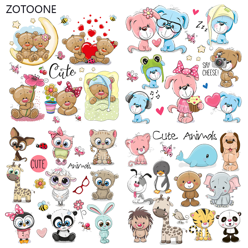 ZOTOONE Stripes Iron On Transfer Patches On Clothing Diy Dog Patch Heat Transfer For Clothes For T-shirts Girl Thermal Sticker I