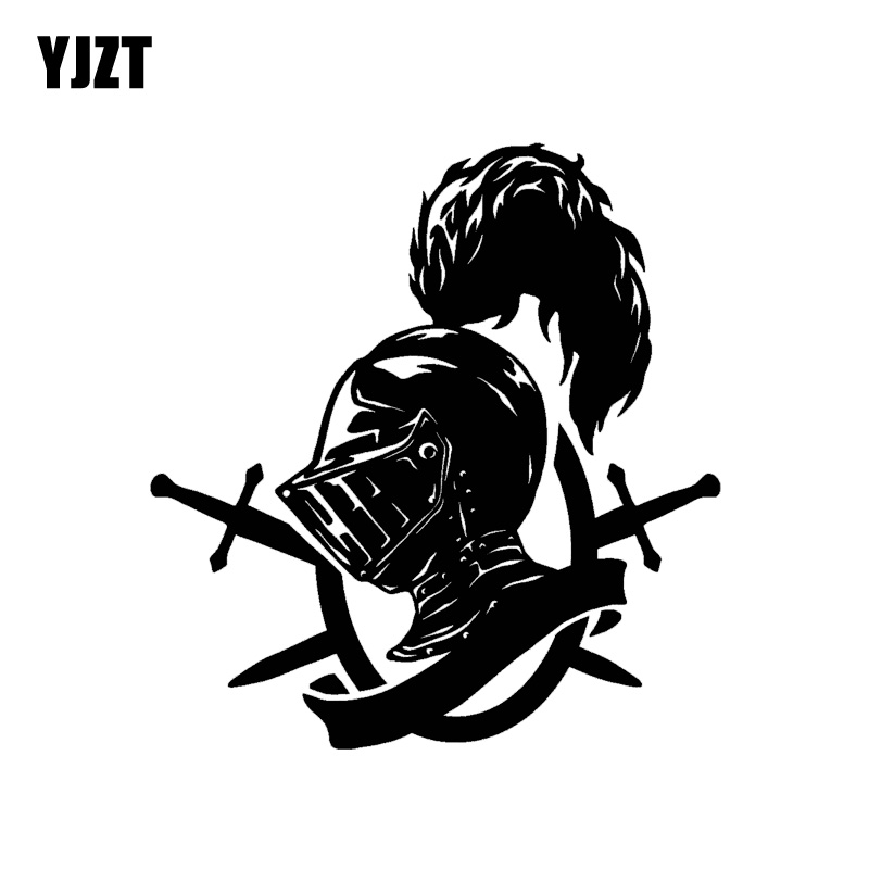 YJZT 14.5*15.3CM Symbol Royal Knight Warrior Soldier Decal Black/Silver Covering The Body Car Sticker Vinyl C20-1775