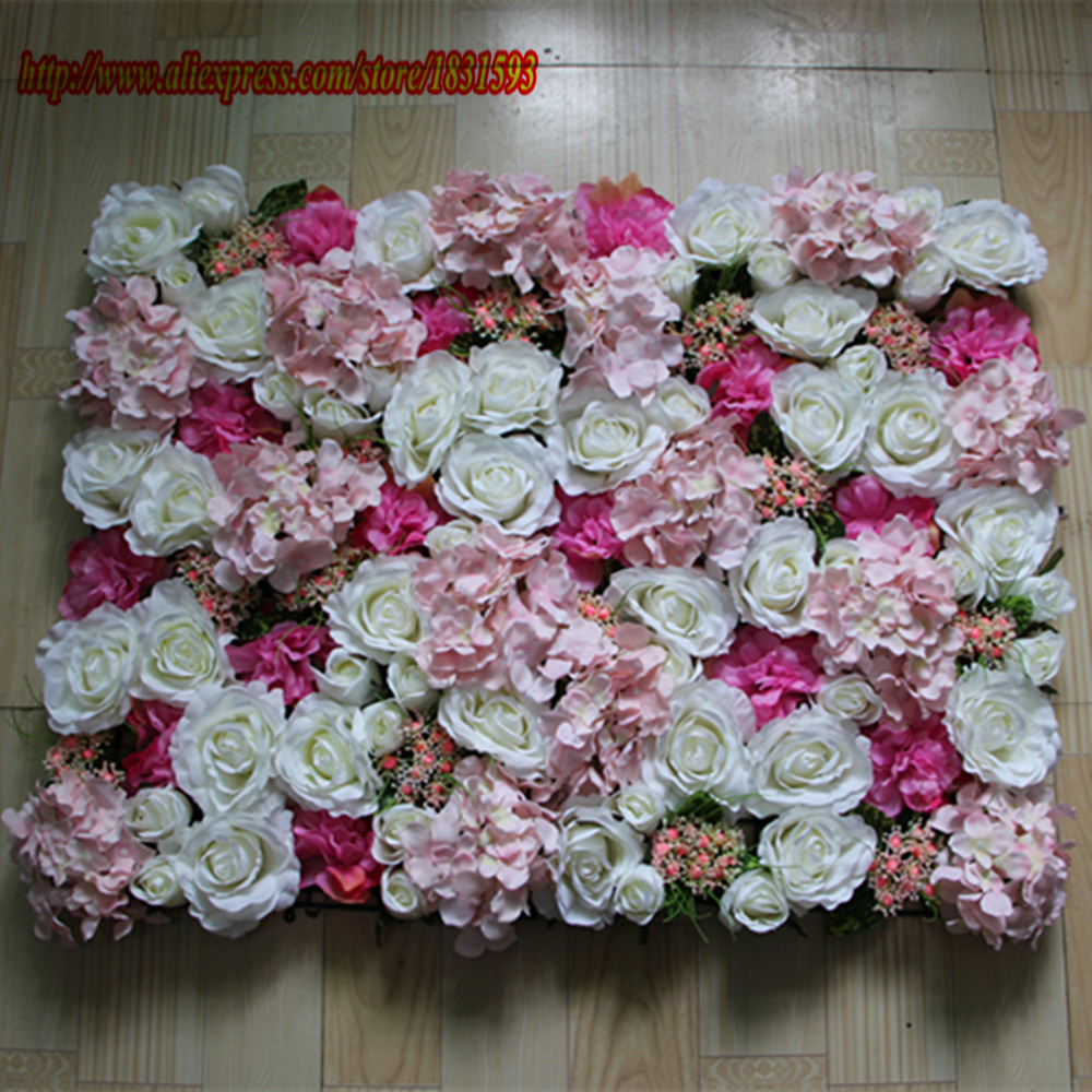 Hot 10pcs lot artificial silk rose flower wall wedding for Artificial decoration