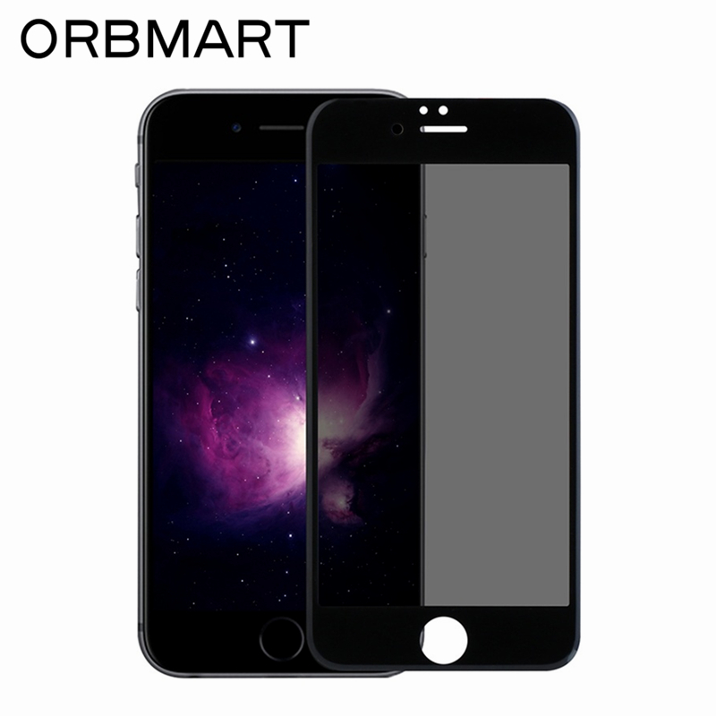 ORBMART 9H 3D <font><b>Curved</b></font> <font><b>Full</b></font> <font><b>Size</b></font> <font><b>Tempered</b></font> <font><b>Glass</b></font> <font><b>Screen</b></font> Protector <font><b>Anti-peep</b></font> Privacy <font><b>Screen</b></font> Film For iPhone 7 7 Plus