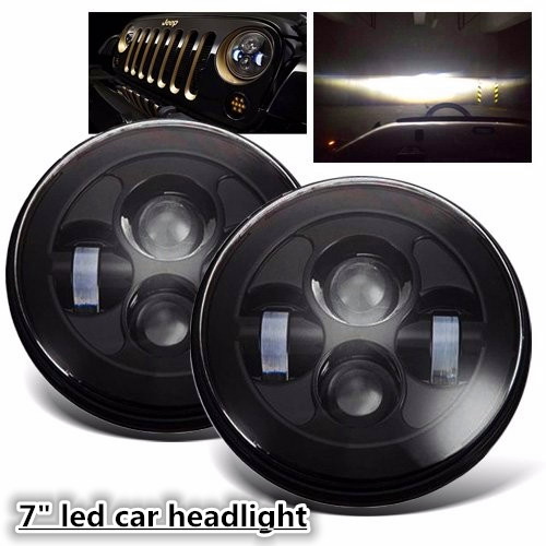 2pcs 7'' LED Headlight Front Driving Running Light For Wrangler JK TJ LJ H4 12V Hi-lo Beam Headlamp Car Styling Head Light ironwalls 2pcs set car headlight cree csp chips 72w hi low beam led driving light auto front fog light for audi toyota honda