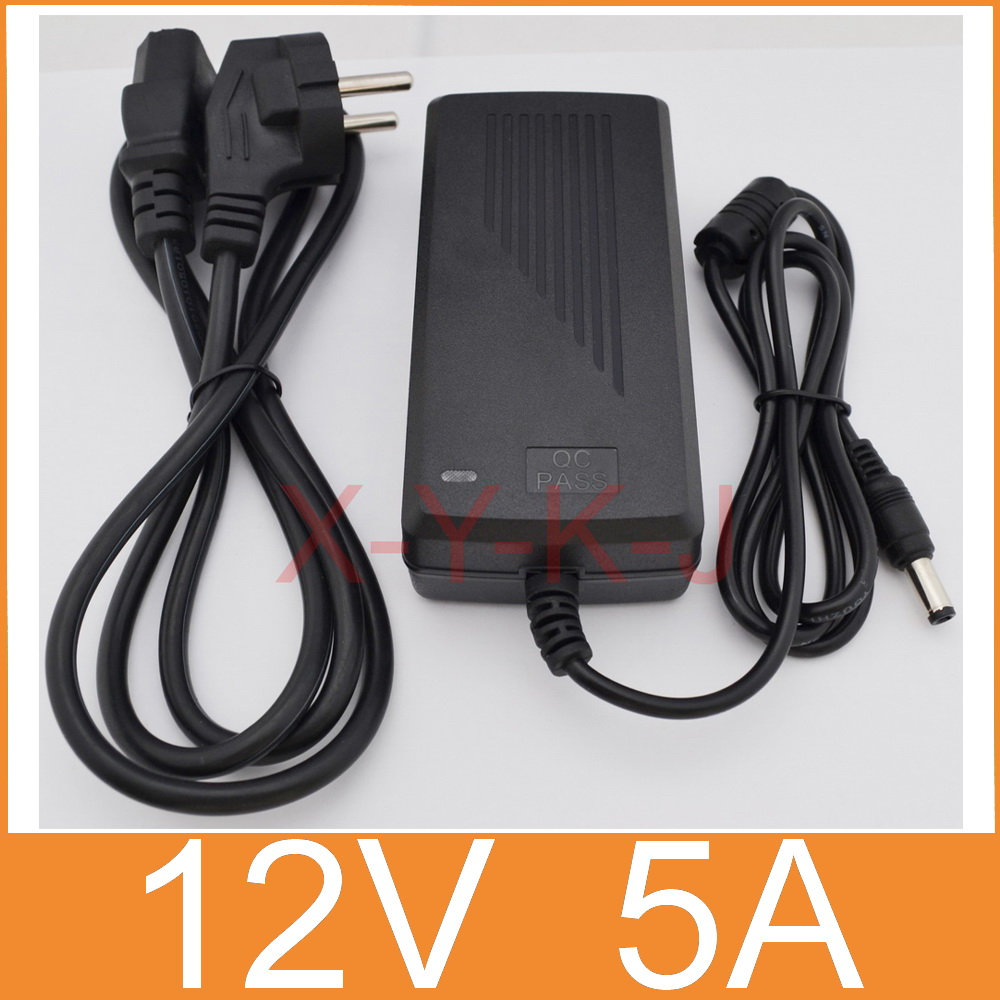 10pcs New AC 100V 240V Converter Adapter DC 12V 5A 60W Power Supply plug DC 5