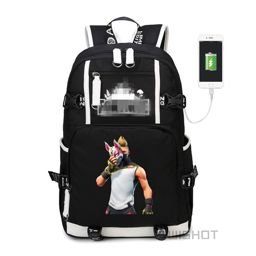 WISHOT  bag Lama  Backpack LLAMA Shoulder travel School Bag with USB Charging Port Laptop Bags