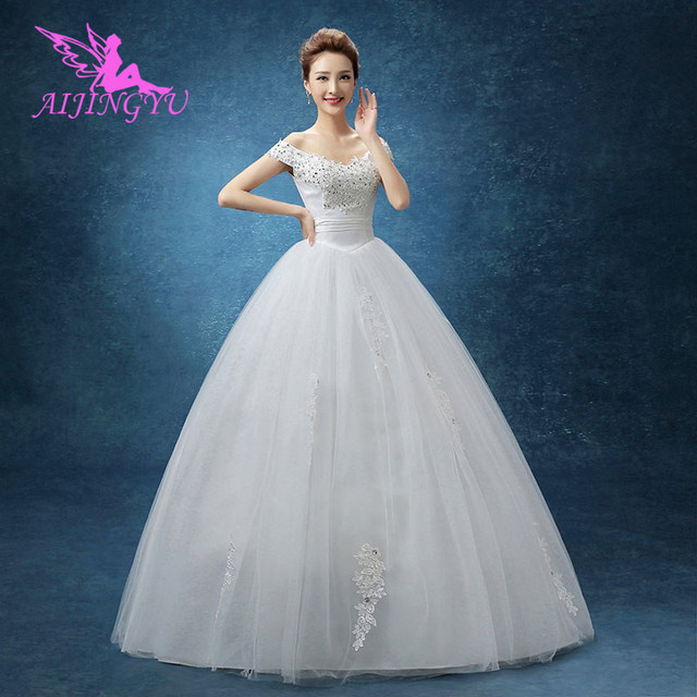 a58d1f61da US $38.0  Aliexpress.com : Buy AIJINGYU 2018 sexy free shipping new hot  selling cheap ball gown lace up back formal bride dresses wedding dress  WK768 ...