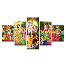 New Hot Sales Framed 5 Panels Picture Indian Buddha series HD Canvas Print Painting Artwork Wall Art painting/11Y-ZT-16