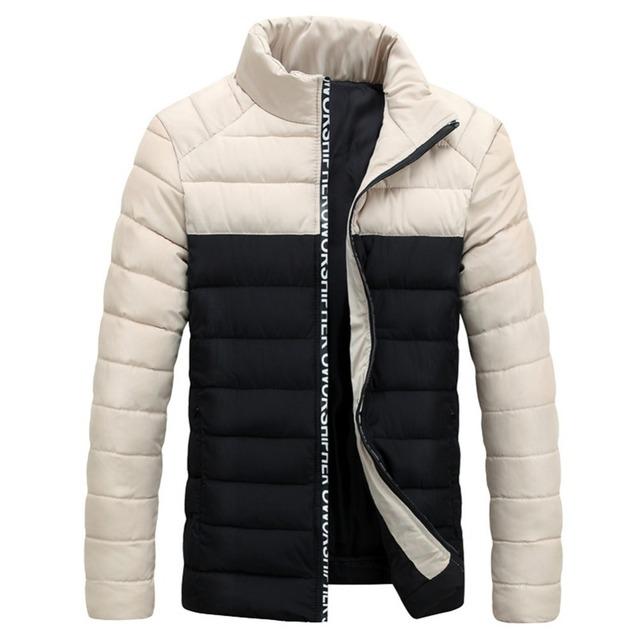2017 New Arrival Inverno Quente Dos Homens Para Baixo Casacos de Algodão Casaco Fashion Casaco de Alta Qualidade Casual Masculino Formais Regulares Jaquetas