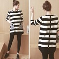 Winter Pregnancy Clothes Stripe Plus Size Dresses Women Casual Dresses for Pregnant Woman