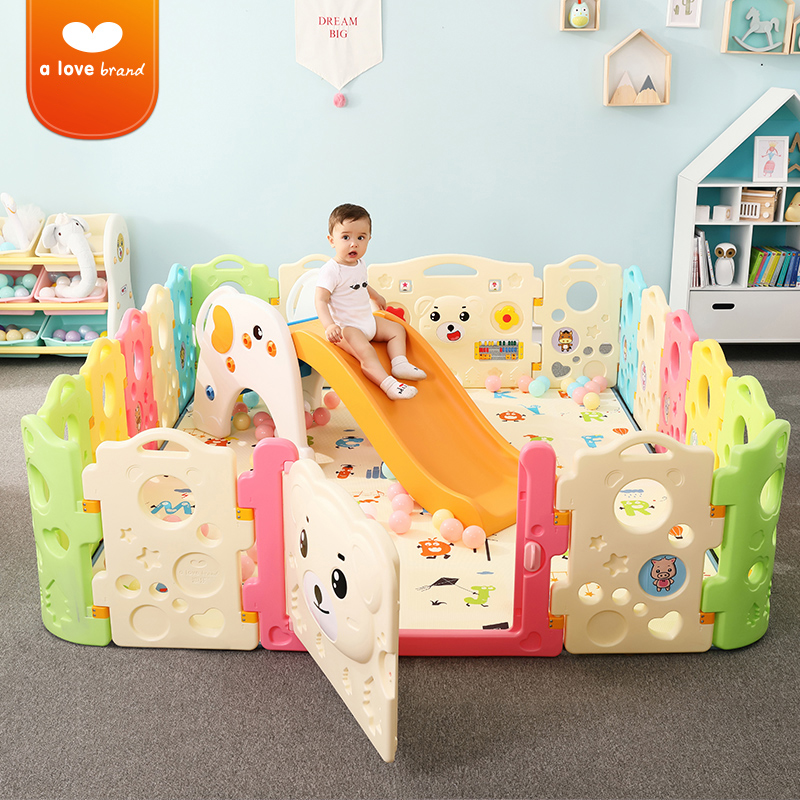 20pcs Large playground Baby play fence child safety indoor Family safe playground toddler bar Game Protective Guardrail toy Baby Playpens     - title=