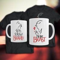 Beauty and the Beast canecas copo de viagem xícara de leite caneca de café de porcelana xícaras de chá casa decalque
