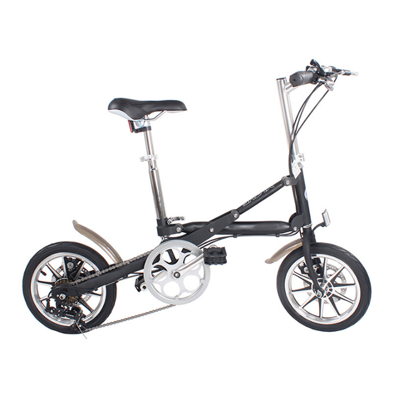 14-inch Folding Bicycle Aluminum 7-speed And Single-speed Bike A Light Folding Bicycle That Can Be Pushed Around At Will