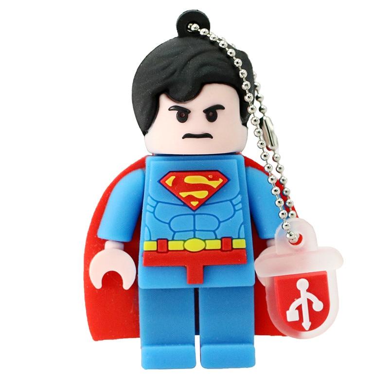 Spiderman Superman usb flash drive cartoon usb 2.0 pen drive 4gb 8gb 16gb 32gb 64gb 128gb pendrive usb stick free shipping (12)