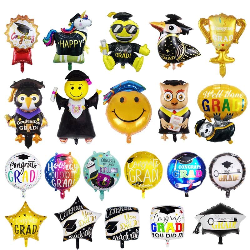 Congrats Grad Balloons Graduation air Globos Back To School Decorations Birthday Party kids