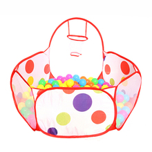 hot deal buy portable cute hexagon cloth mesh colorful polka dot kids playpen ball pit outdoor easy folding play tent house with tote bag