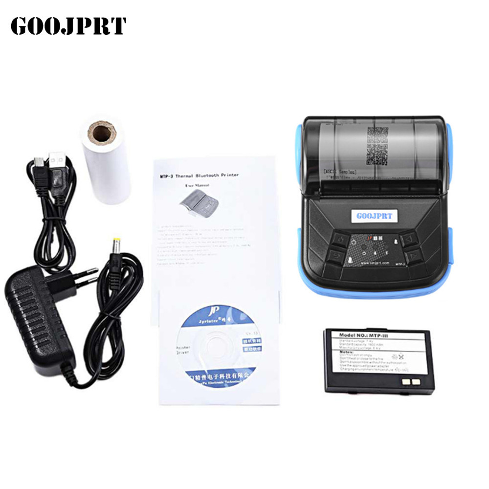 Livraison gratuite 80mm bluetooth imprimante thermique imprimante thermique réception imprimante bluetooth android mini 80mm thermique bluetooth