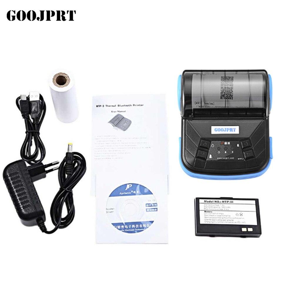 Livraison gratuite imprimante bluetooth 80mm imprimante thermique reçu imprimante bluetooth android mini 80mm thermique bluetooth