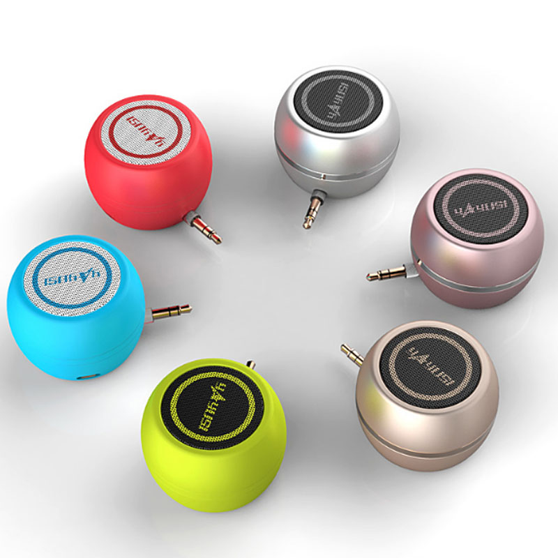 Outdoor Portable Mobile Phone Speakers 3.5mm Port Mini Stereo Using  Small Speakers Music Player Stereo free shipping