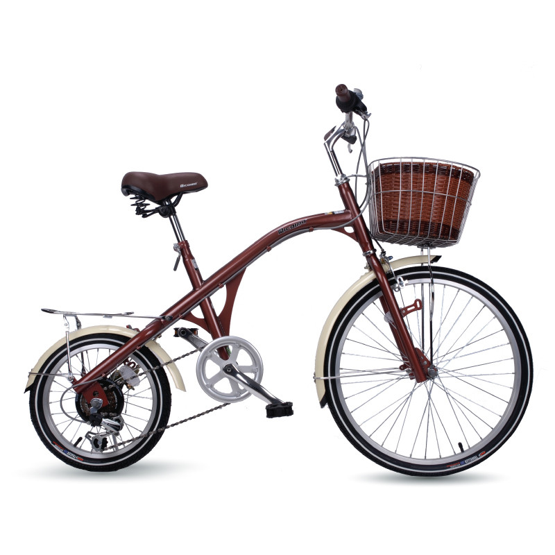 Utility Bicycle Cycling Women's Bicycle Large And Small Wheels  24-inch 16-inch City Lady Princess Retro Bicycle