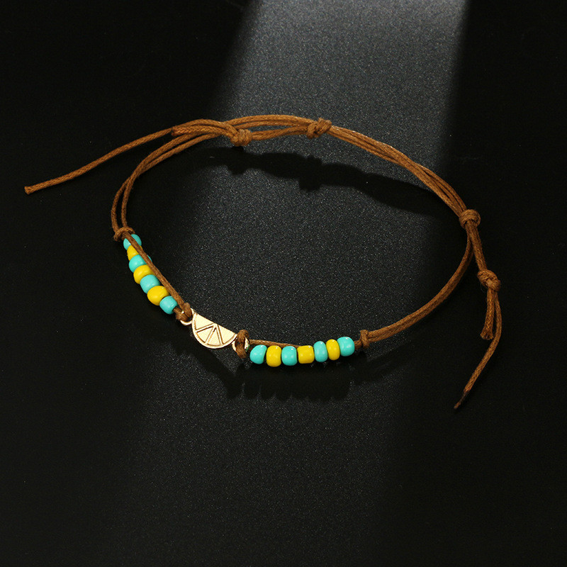 Cute Multi Color Resin Lemon Anklets Chic Rope Handmade Anklets Bracelets For Women Engagement Friend Gifts in Anklets from Jewelry Accessories