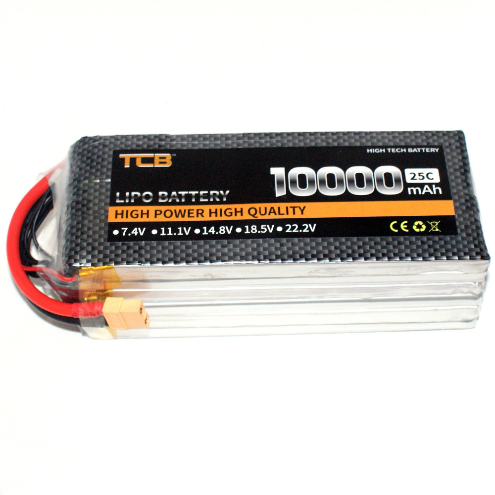 TCB RC Aircraft battery 22.2v 10000mAh 25C 6S for RC Airplane drone Car Boat Helicopter 6s Li-ion batteria AKKU mos 5s rc lipo battery 18 5v 25c 16000mah for rc aircraft car drones boat helicopter quadcopter airplane 5s li polymer batteria