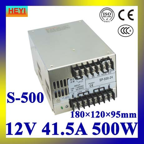 LED power supply 12V 41.5A 100~120V/200~240V AC input single output switching power supply 500W 12V transformer 480w 500w led switching power supply 12v 40a power supply 12v output 85 265ac input free shipping