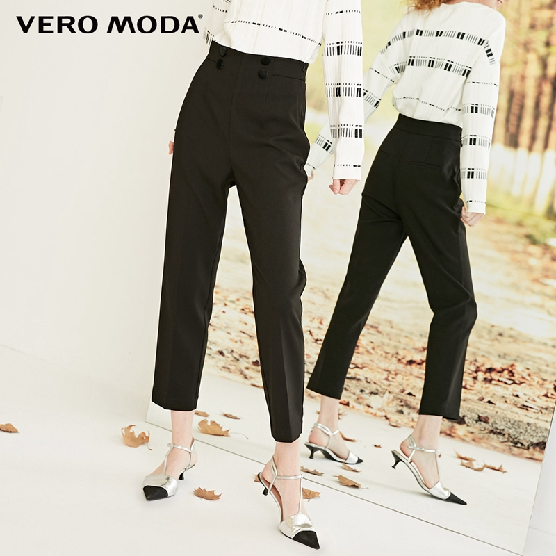 Vero Moda Women's New High Waist Double-breasted Decorative 3D Cut Suit Pants | 318350504