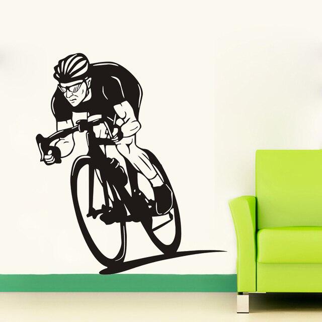 bike wall art decal sticker mural home decoration sport bike wall