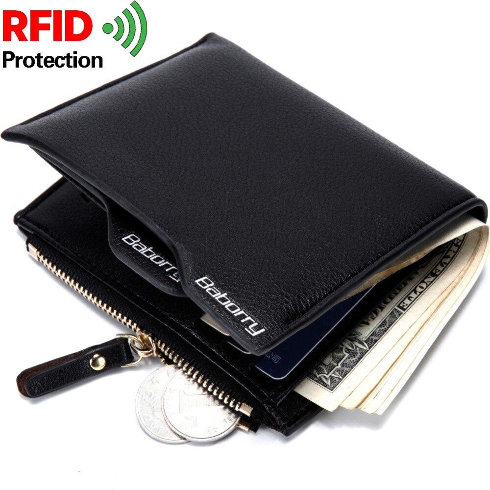 f6e15eacf Rfid Theft Protect cartera para hombre carteras para hombres con bolsillo  monedero de lujo Cartera de dinero para hombre carteras nuevo diseño Top  monederos ...