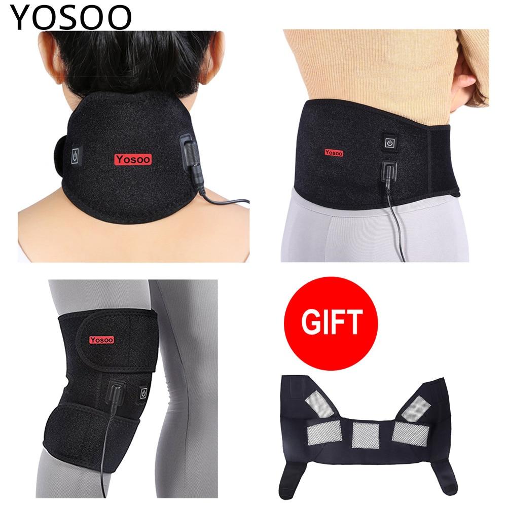 Yosoo Heating Waist Lower Back Support Patella Knee Splint Support Neck Guard Brace Pad Tourmaline Shoulder
