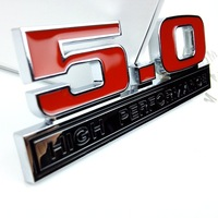 13.9*3.8 CM Car Stickers 3D Stickers 5.0 L Emblem For Ford Mustang Refitting Car Styling Body Badge Car Accessory Exterior Decor